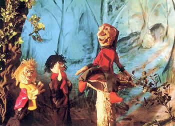 Sinterklaas poppenkast. Peter en de staf van Sinterklaas - El Capstok